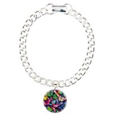 Field of Butterflies Charm Bracelet, One Charm