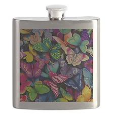 Field of Butterflies Flask