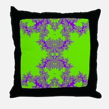 Green Fractals Throw Pillow