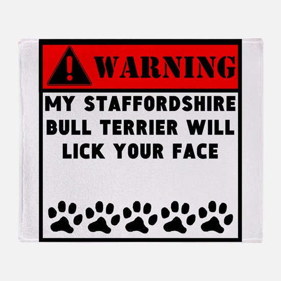 Staffordshire Bull Terrier Will Lick Your Face Thr
