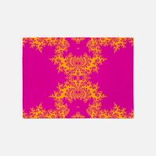 PurplePink Fractals 5'x7'Area Rug