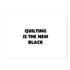 Quilting is the New Black Postcards (Package of 8)