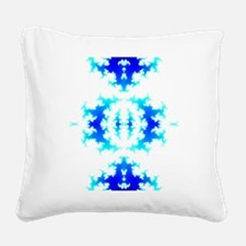 Blue Reflection Square Canvas Pillow