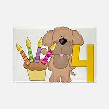Happy 4th Birthday Rectangle Magnet