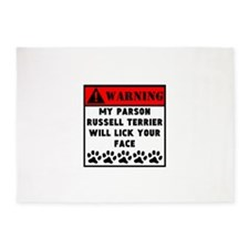 Parson Russell Terrier Will Lick Your Face 5'x7'Ar