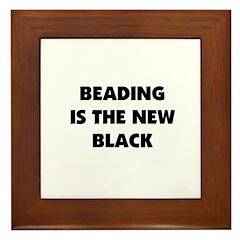 Beading is the New Black Framed Tile