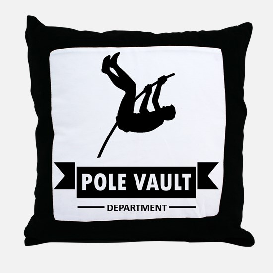 Pole Vault Department Throw Pillow