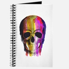 Rainbow Painted Skull Journal