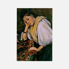 Cezanne - Young Italian Girl Rest Rectangle Magnet