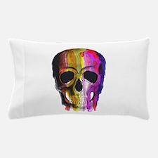 Rainbow Painted Skull Pillow Case