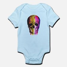 Rainbow Painted Skull Body Suit