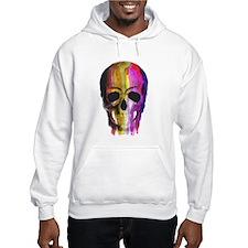 Rainbow Painted Skull Jumper Hoodie
