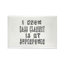 Bass Clarinet is my superpower Rectangle Magnet