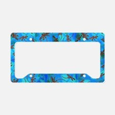 Dragonfly Flit Red Splash License Plate Holder