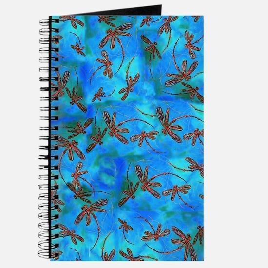 Dragonfly Flit Red Splash Journal