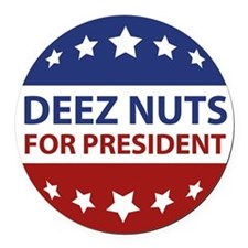 Deez Nuts Round Car Magnet