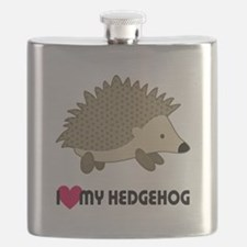 I Love My Hedgehog Flask