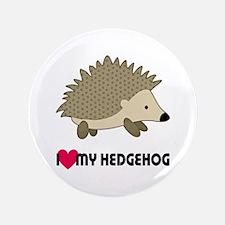 I Love My Hedgehog Button