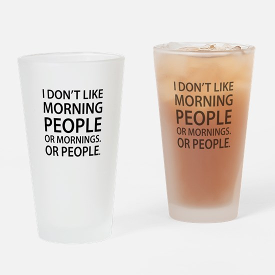 Morning People Drinking Glass