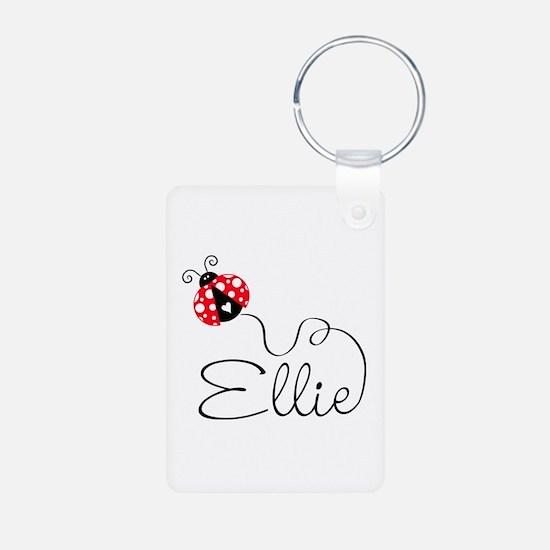 Ladybug Ellie Aluminum Photo Keychain