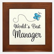 Manager or Boss Framed Tile