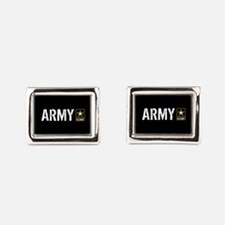 U.S. Army: Army (Black) Rectangular Cufflinks