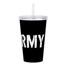 U.S. Army with Black & Acrylic Double-wall Tumbler