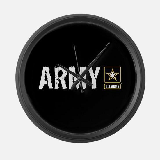 U.S. Army: Army (Black) Large Wall Clock