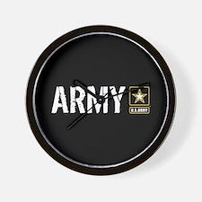 U.S. Army: Army (Black) Wall Clock