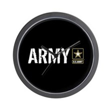 U.S. Army with Black & Gold Star Logo Wall Clock
