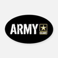 U.S. Army: Army (Black) Oval Car Magnet
