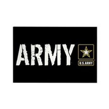 U.S. Army with Black & Gold Star Rectangle Magnet