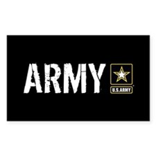U.S. Army with Black & Gold St Decal