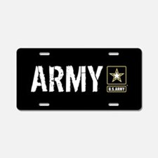 U.S. Army: Army (Black) Aluminum License Plate