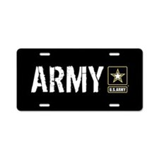 U.S. Army with Black & Gold Aluminum License Plate