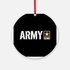 U.S. Army: Army (Black) Round Ornament