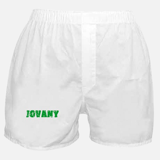 Jovany Name Weathered Green Design Boxer Shorts