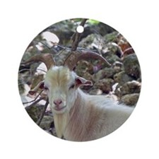 Billy Goat Round Ornament
