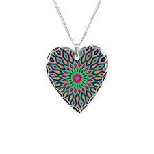 Mandala Necklace Heart Charm