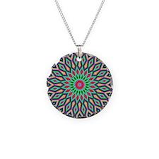 Mandala Necklace Circle Charm