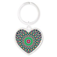 Mandala Heart Keychain