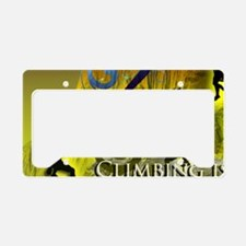 Climbing Cures Gravity License Plate Holder