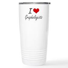 I love Graphologists Travel Mug