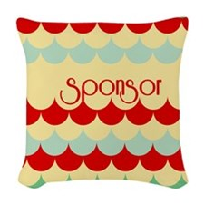 Sponsor (abstract Rain) Woven Throw Pillow