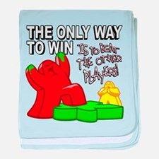 The Only Way to Win baby blanket