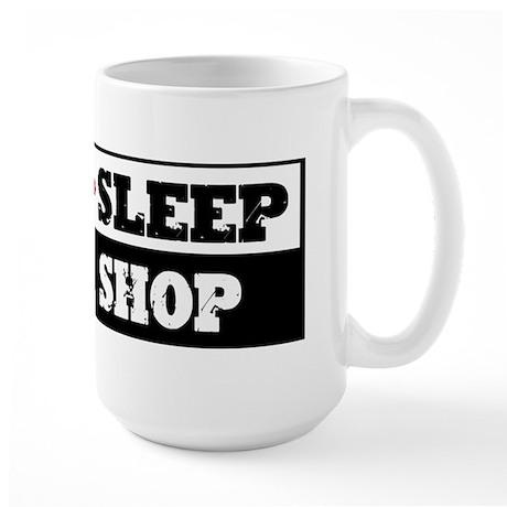 Eat Sleep Wood Shop Large Mug