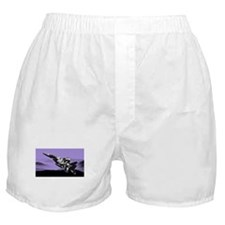 F-15 Eagle and Mountains - Lilac Boxer Shorts