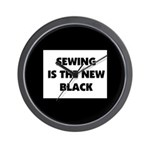 Sewing is the New Black Wall Clock
