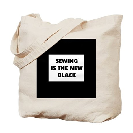 Sewing is the New Black Tote Bag