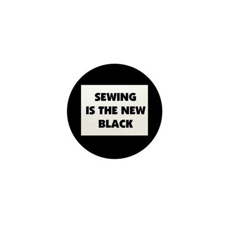 Sewing is the New Black Mini Button (10 pack)